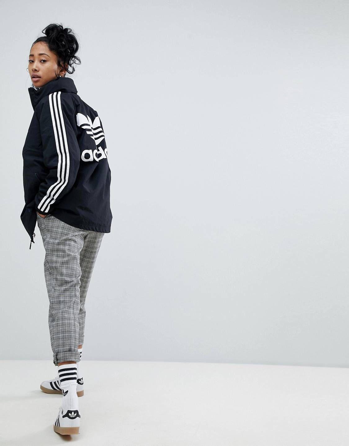 adidas Originals adicolor Three Stripe Stadium Jacket With