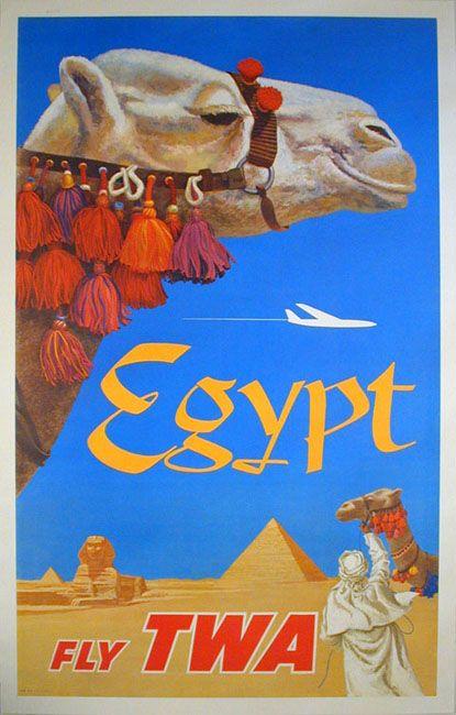 Fly TWA  Nice camel art by David Klein.