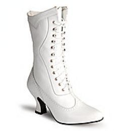 white lacy vintage lace up boot - Google Search