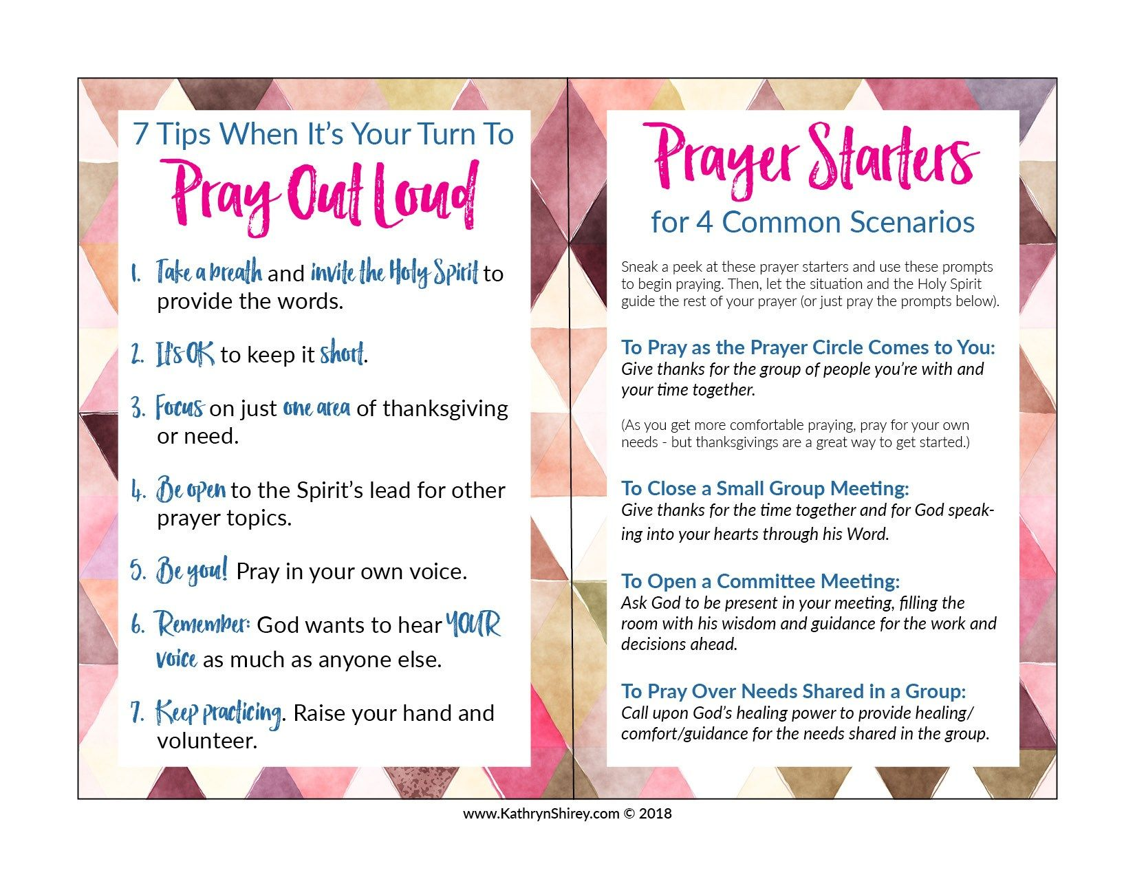 How to Pray Out Loud   12 Tips for When it's Your Turn to Pray ...