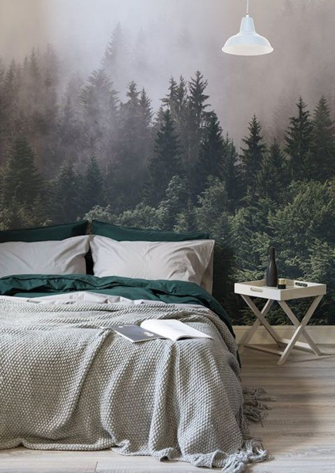 Living Is A Forest Walk Sweet Home Room Decor Bedroom Grune