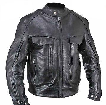 Xelement B4495 Bandit Men S Black Buffalo Leather Cruiser Motorcycle Jacket With X Armor Protection Buffalo Leather Jacket Motorcycle Jacket Mens Black Leather