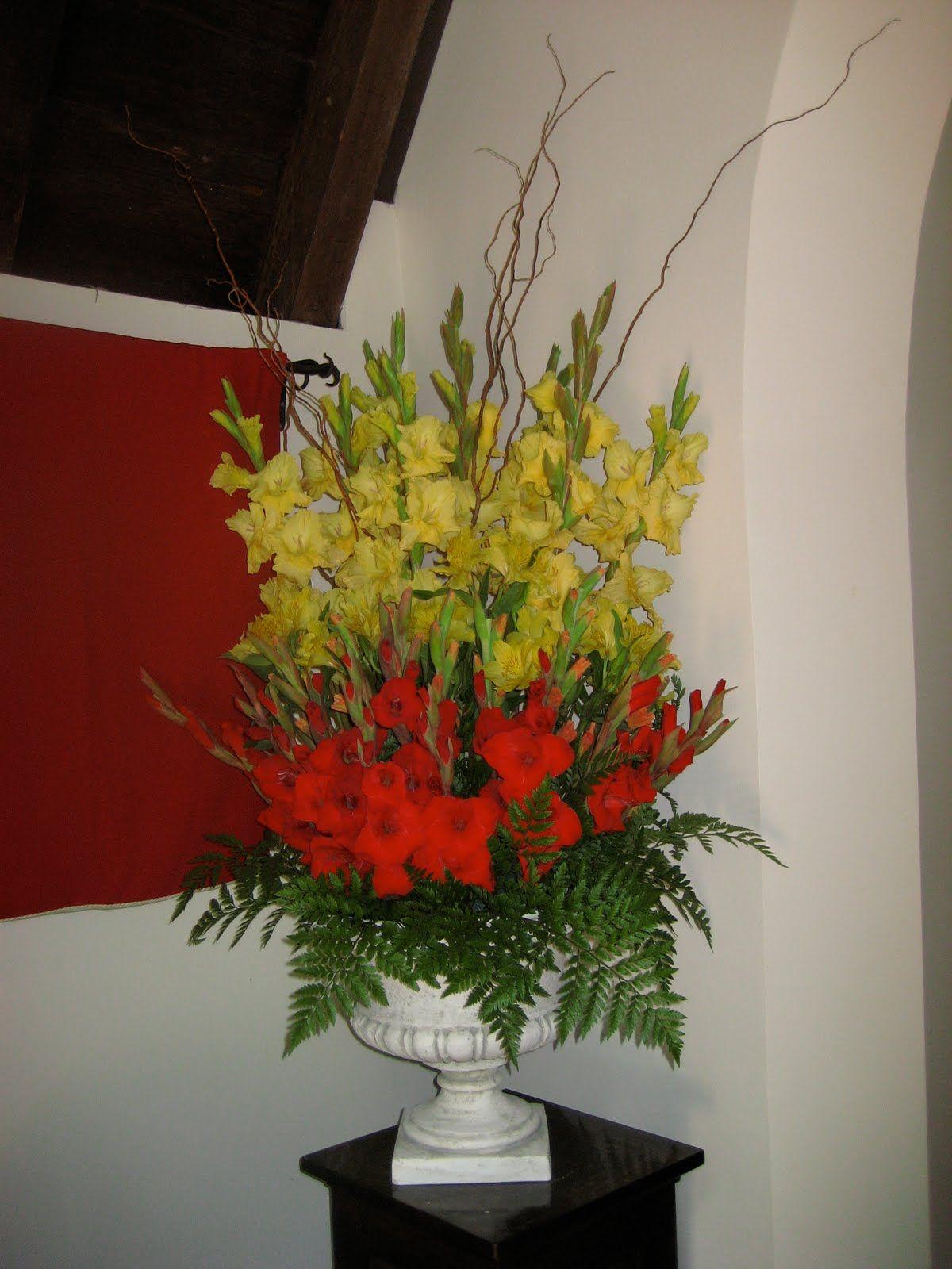 Pentecost arrangement church decor pinterest