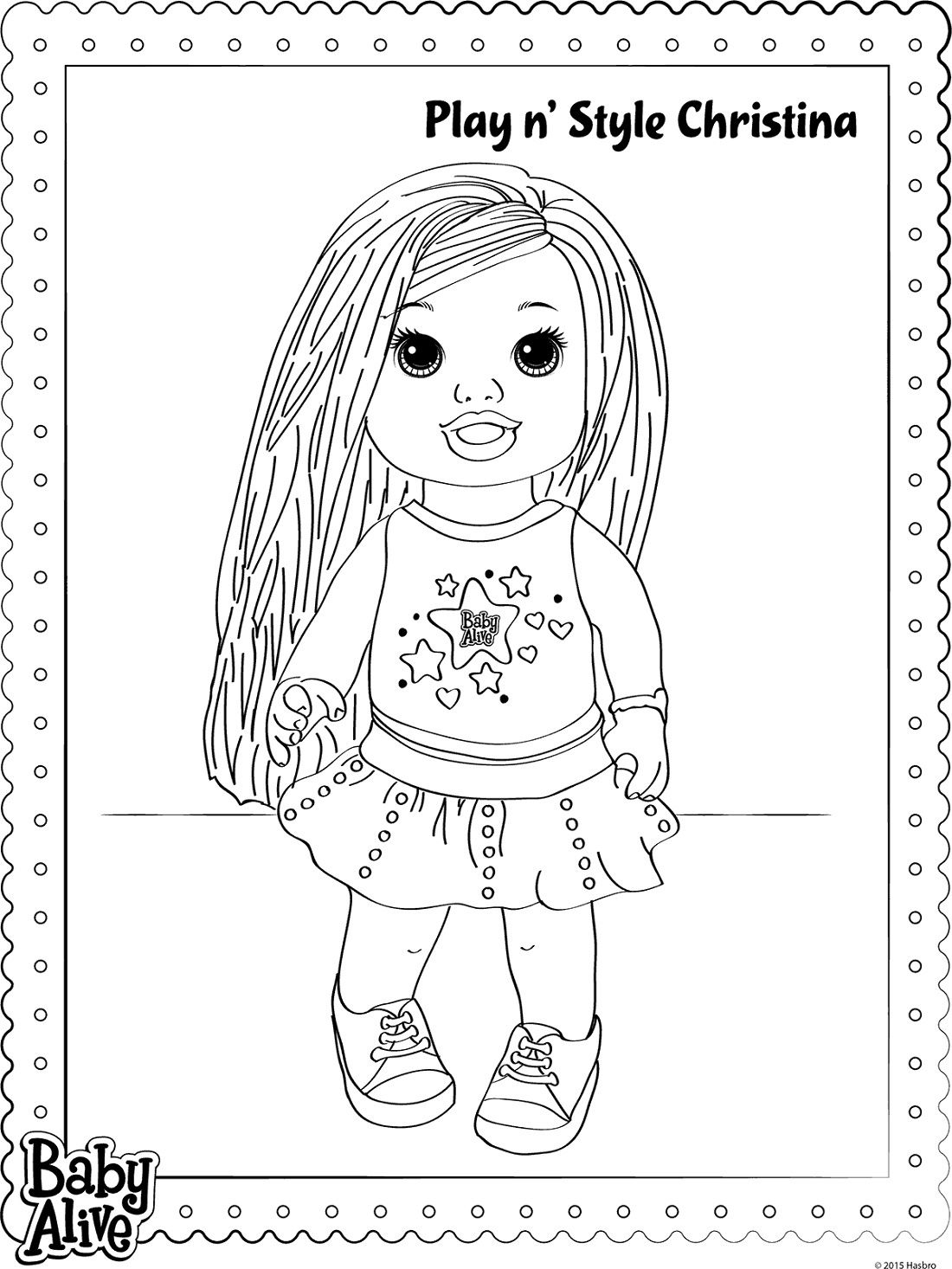 Christina Baby Alive Coloring Pages