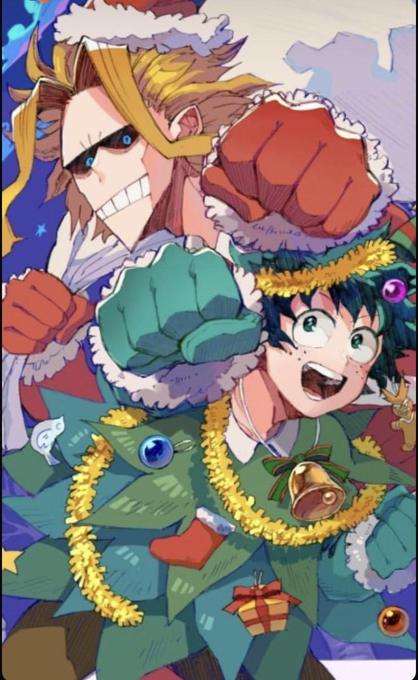Official art idk Anime christmas, My hero, Hero