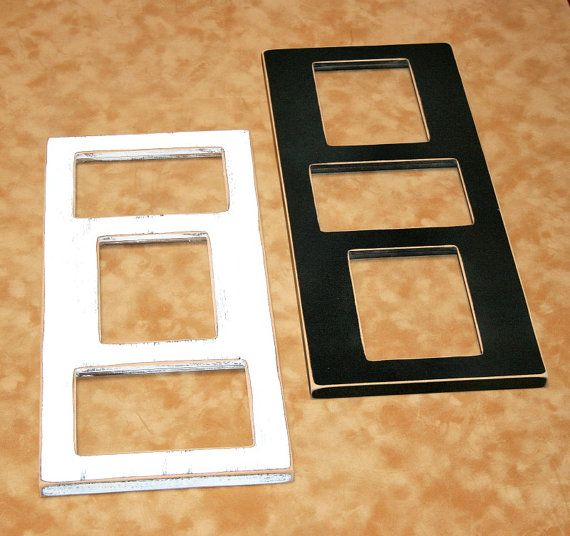 Collage picture frame, 3 opening 4x6, vertical and horizontal ...