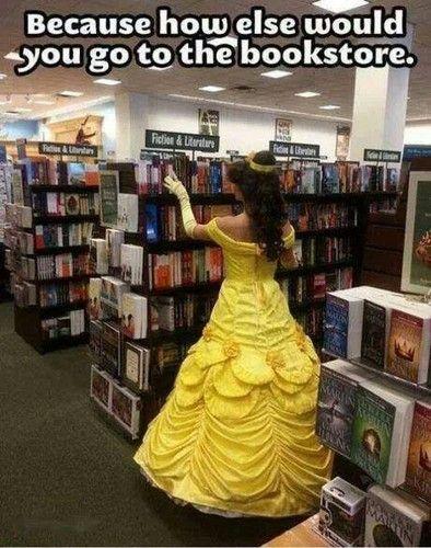 Disney Princess Photo: Going to the bookstore like a boss