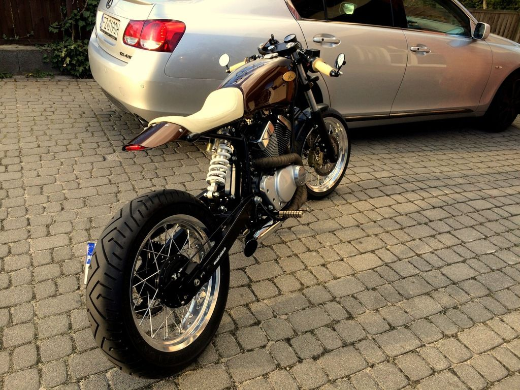 Motor Cafe Racer 125 Yamaha Virago Sachs Piekny 7244965797 Oficjalne Archiwum Allegro Motos Retro Voitures Et Motos Motos