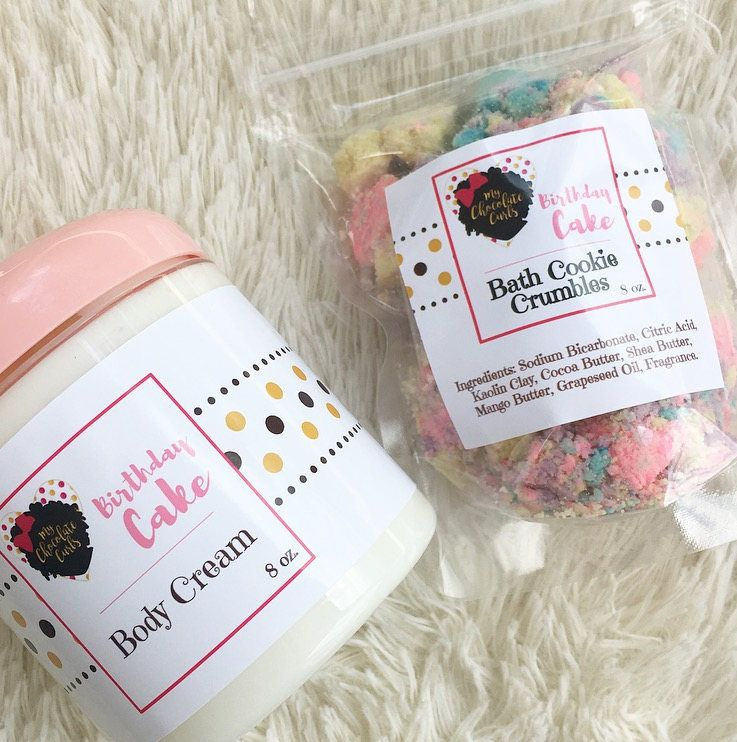 Birthday Cake Bath And Body Cream Cookie Crumbles Lotion Fizzies Bombs Shea Butter By MyChocolateCurls On
