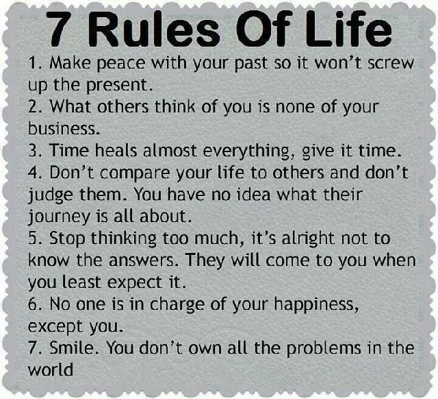 7 Rules Of Life @10MillionMiler #quote #leadership #inspiration #quotes RT @