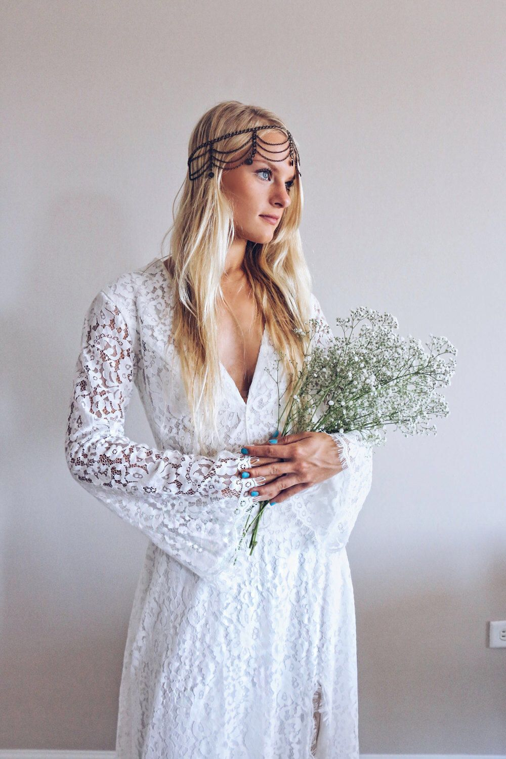 Nala dress bohemian wedding dress boho long sleeves lace dress