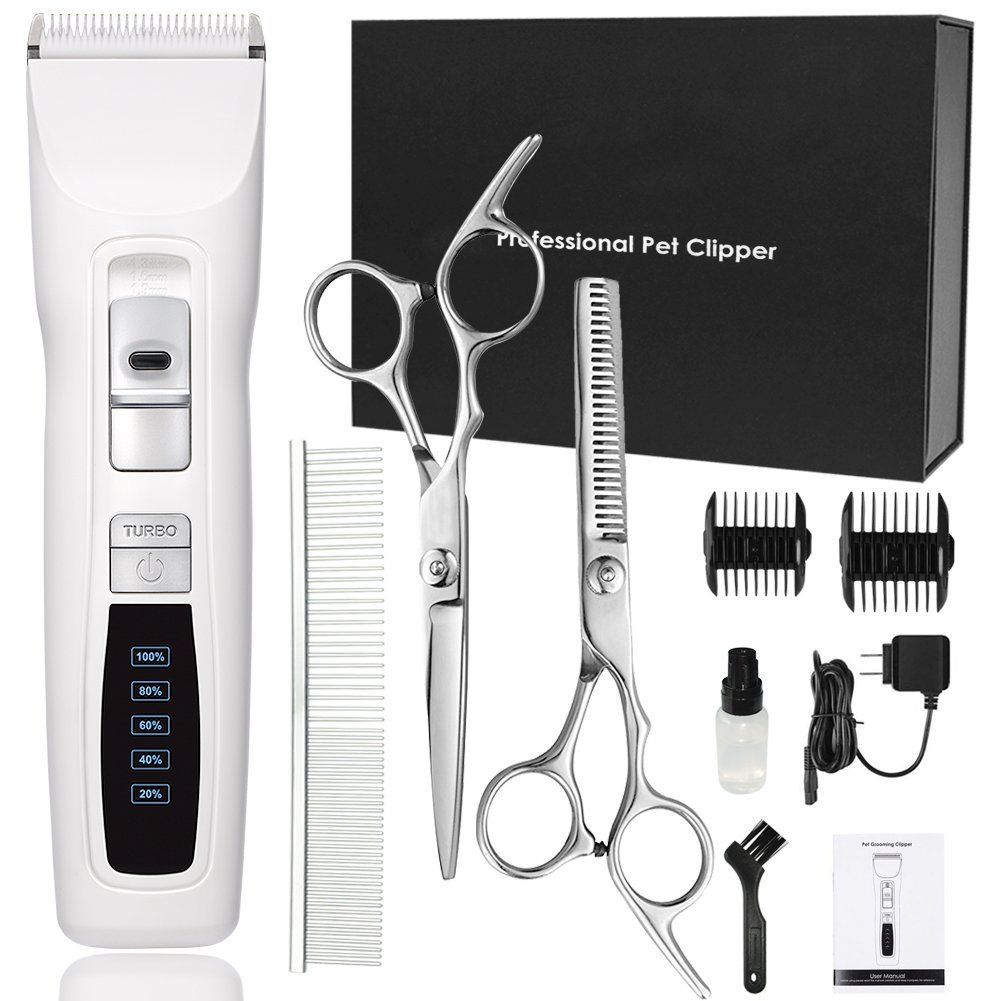 Cyrico Dog Clippers Professional Heavy Duty 2speed Turbo Grooming Clippers Kit For Thick Coats White P With Images Dog Grooming Clippers Dog Clippers Dog Grooming Supplies