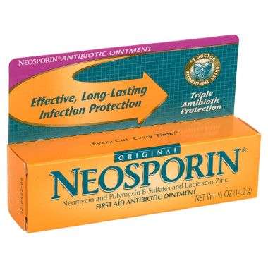 Neosporin! I have this in every and drawer in my