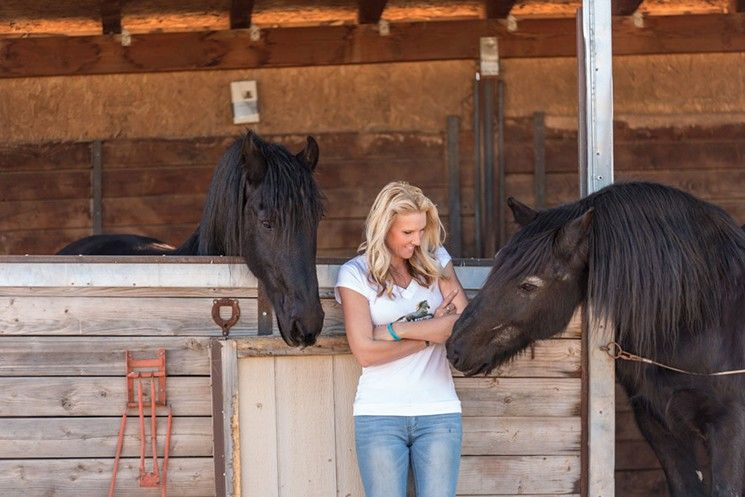 Simone Netherlands tends to rescued horses on her Prescott-area ranch.