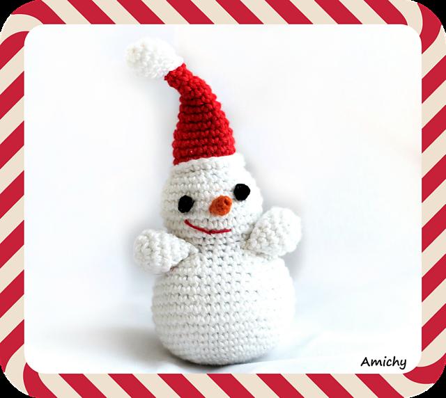 Ravelry: Amichy Snowman pattern by Michal Kadari -- snowman statu ...
