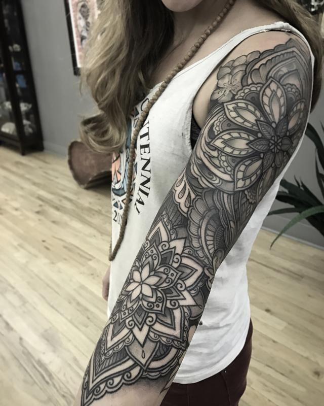 mandala 3/4 sleevelaura jade - | tattoos wants