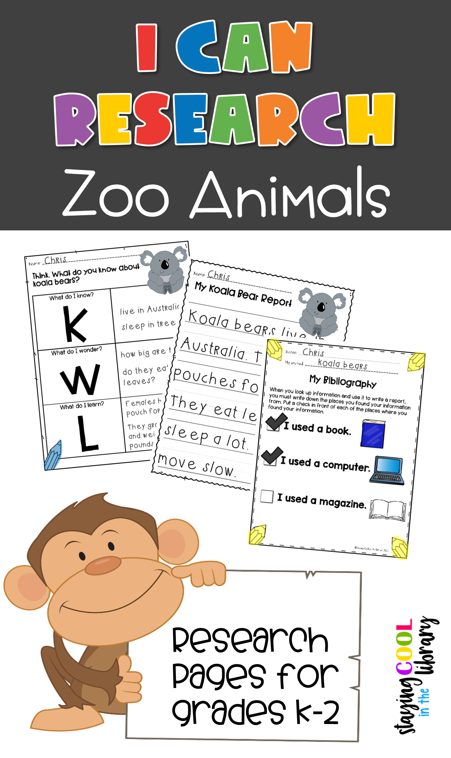 I Can Research Animals Bundle