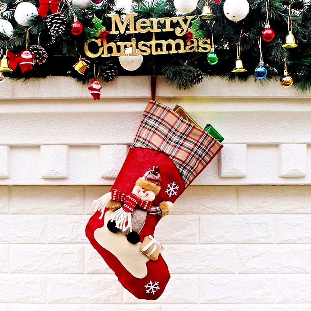 Christmas Socks Stocking Home Decoration New Year Hanging Sock