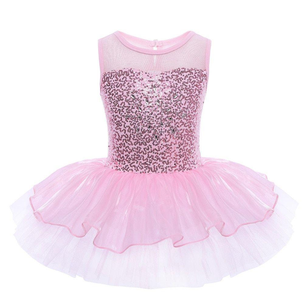 Toddler Girls Kids Ballet Tutu Dress Gymnastics Leotard Ballerina Dance Costume