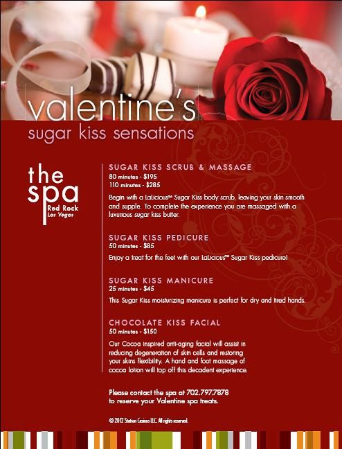 red rock spa valentines day specials announced station casinos - Valentines Day Spa