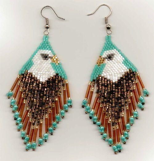 Eagle Beadwork Patterns Native American Beaded Earring