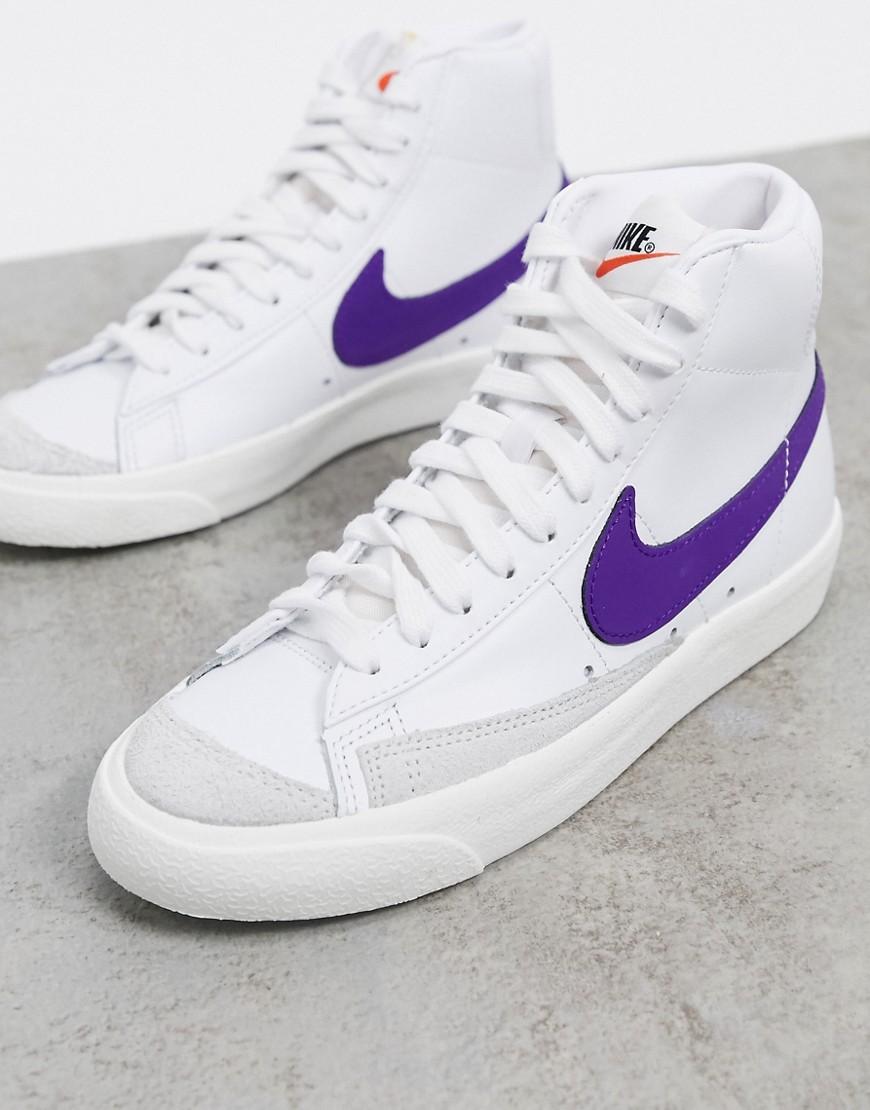 Nike - Blazer 77 - Baskets - Blanc et violet | girlsonmyfeet.com ...