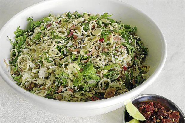 Nasi Ulam Utara Recipes Healthy Rice Salad Malaysian Cuisine