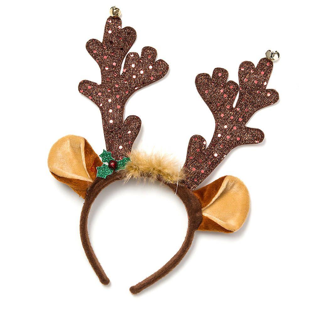 Holiday sequin reindeer antlers headband claire 39 s for Reindeer antlers headband craft