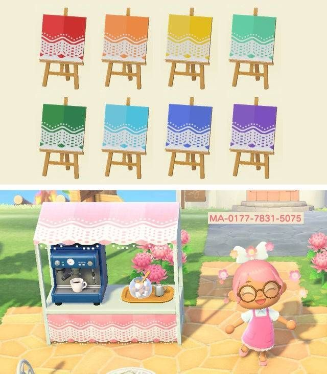 Animal Crossing New Horizons Island Ideas — acnhcustomdesigns:   lace stall st…