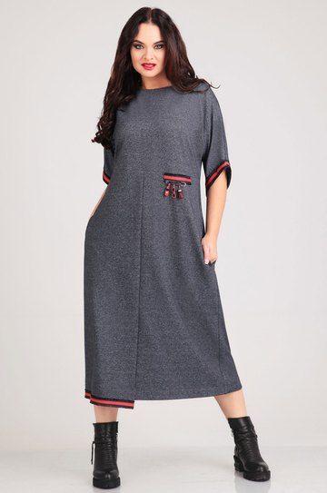 Платье Andrea Style, серый (модель 0023) — Белорусский трикотаж в интернет-магазине «Швейная традиция»