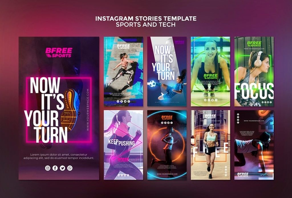 Sports and tech instagram stories paid, , Sponsored, ad
