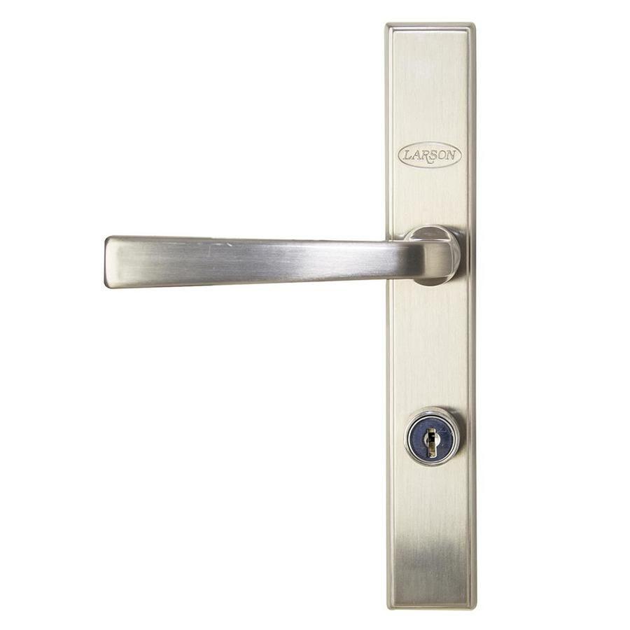 Larson Quickfit Brushed Nickel Storm Door Matching Handleset At Lowes Com Storm Door Storm Door Handle Door Handles