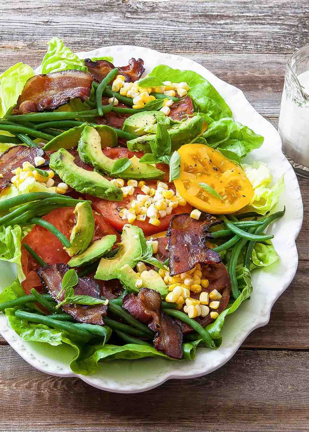 Blt Salad With Buttermilk Dressing Recipe Blt Salad Dinner