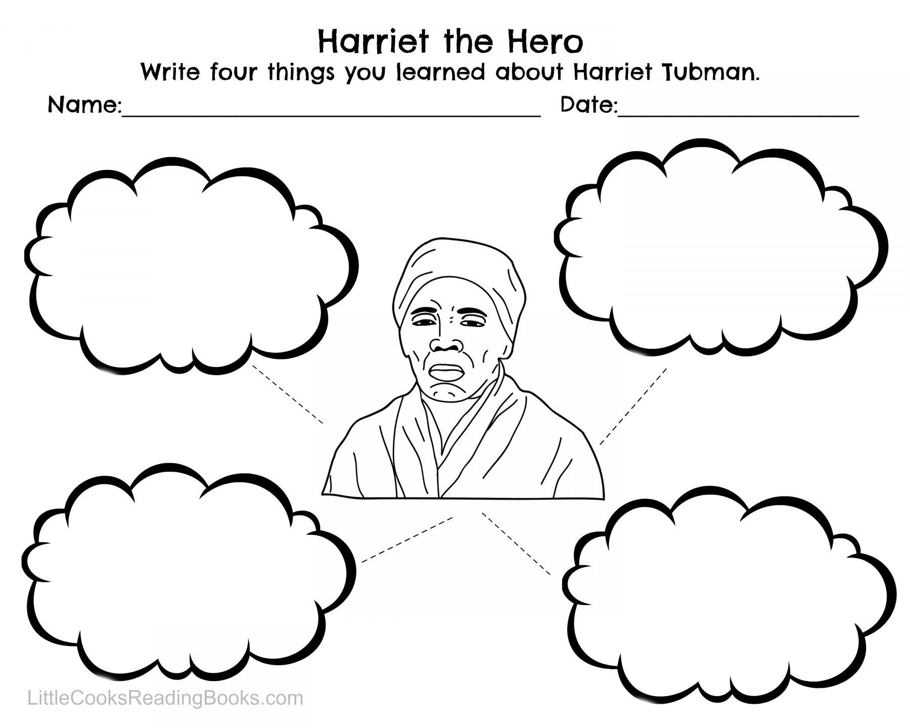 hight resolution of 12 Harriet Tubman Worksheet For Kindergarten   Black history month  activities