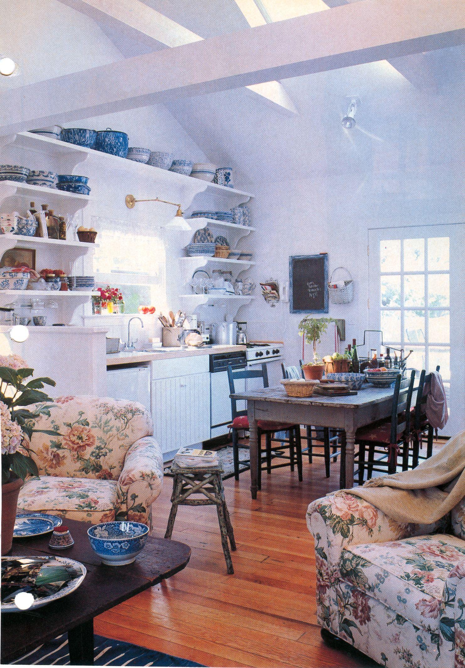 cozy light filled kitchen