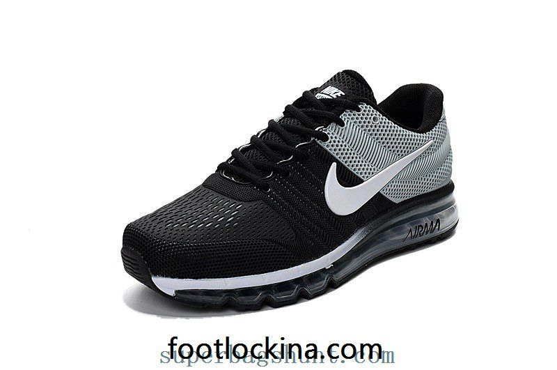 cheap nike air max 2017 leather black gray white shoes
