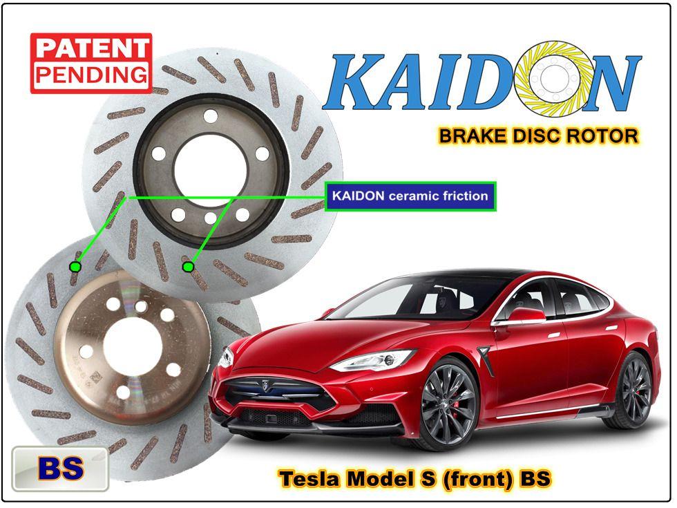Tesla Model S Brake Disc Rotor Kaidon Front Type Bs Rs Spec Tesla Model S Tesla Toy Car