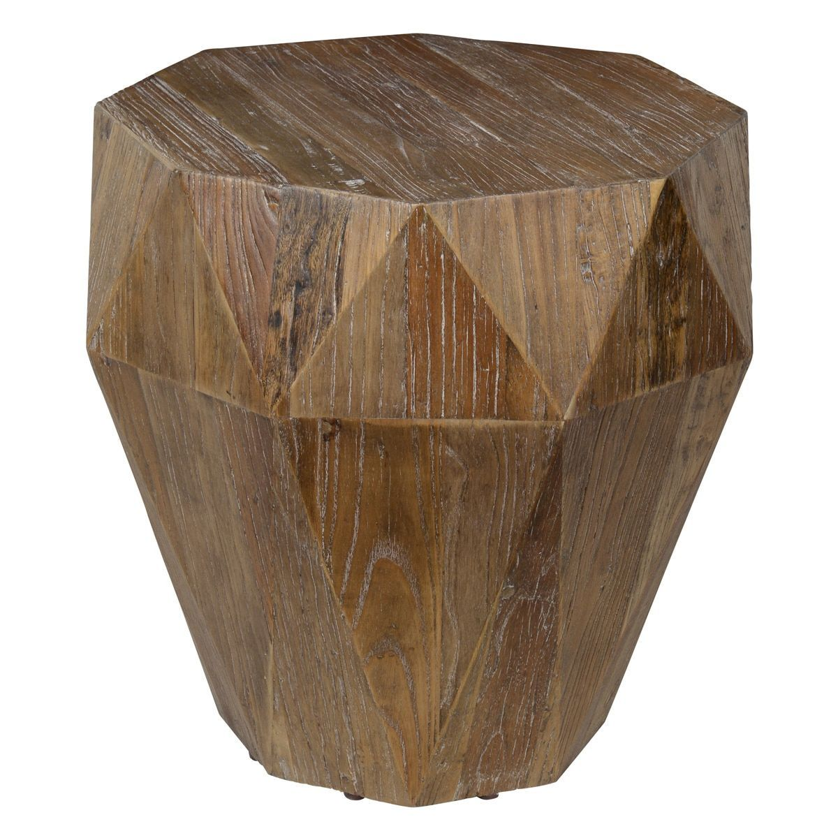Kosas Home Transitional Casablanca Side Table (Natural Geometric Side Table), Brown