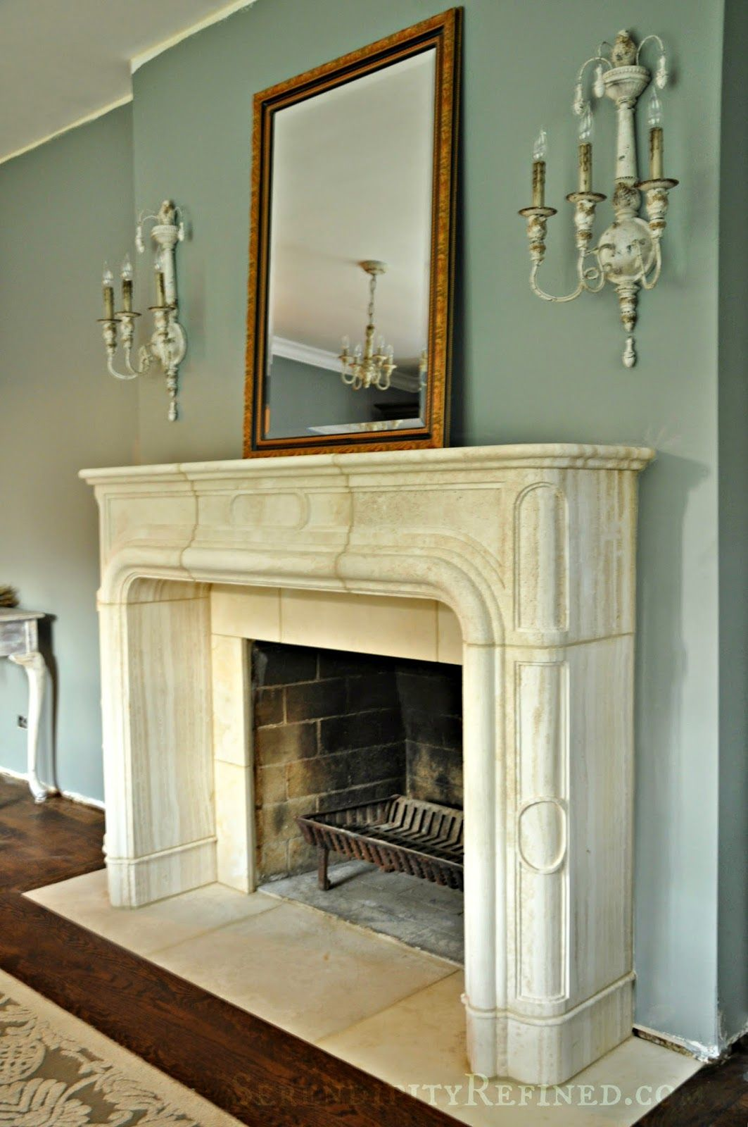French Country Fireplace Serendipity Refined French Replica Limestone Fireplace Mantel