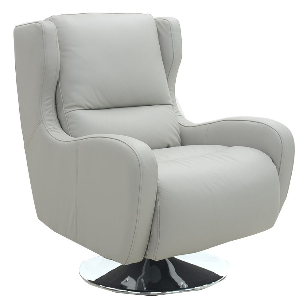 Santino - Swivel Chair (Cloudy Leather) | Chairs | Living Room ...