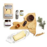 sweet and savory cheese box gift set with the cutting board of your state choice!