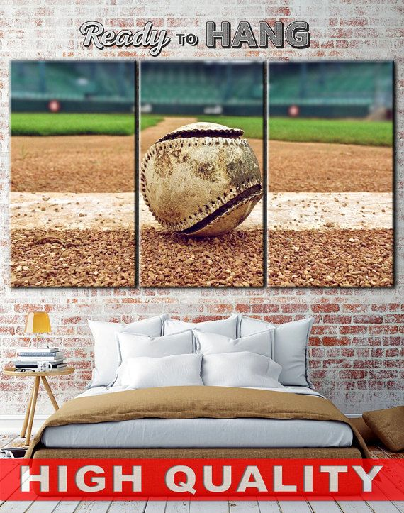 Baseball Ball Bseball Canvas Print Art Room Play