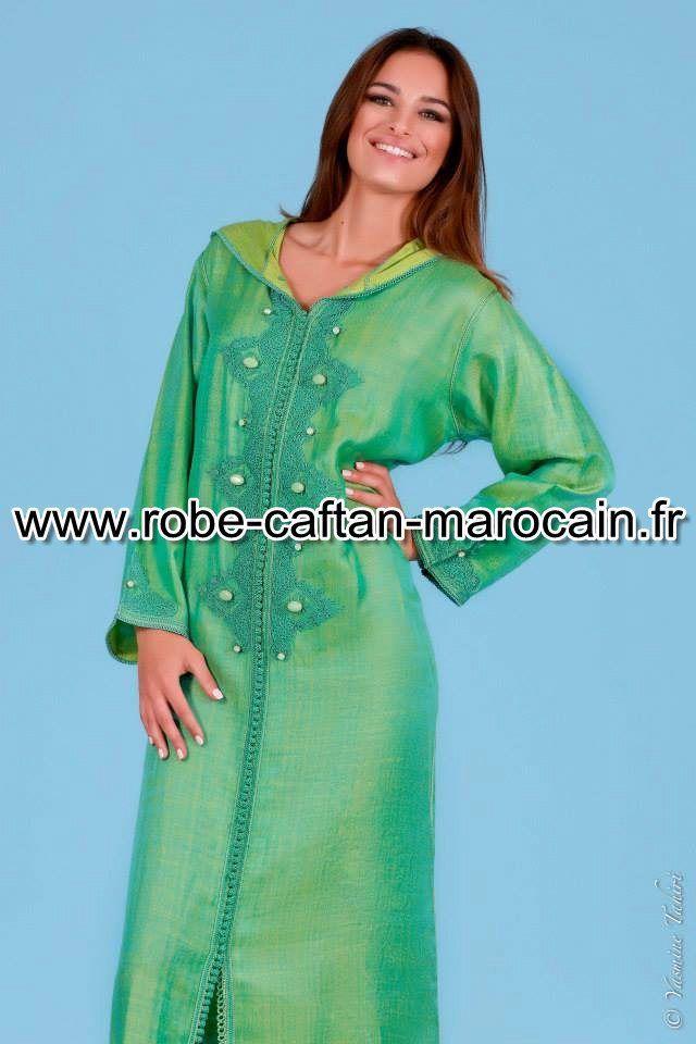 Djellaba pour femme marocaine , Robe caftan marocain