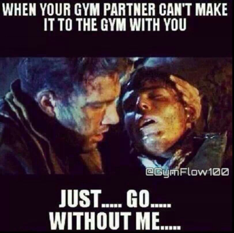 Funny gym meme when your partner