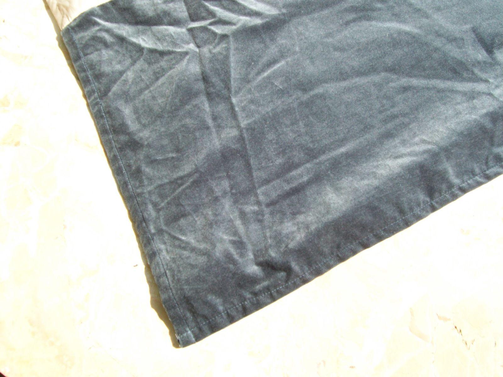 Queen Steele Blue Blue Grey Velvet Tailored Box Pleat Bedskirt 16 Drop - Bed Skirts