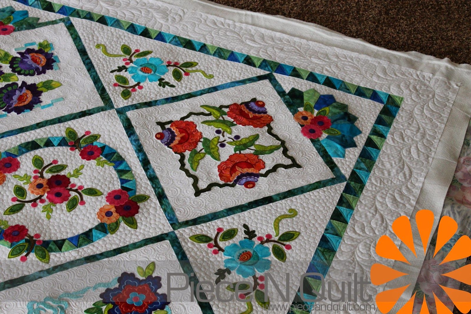 machine embroidered quilts | Last week I machine quilted this ... : embroidery quilting machine - Adamdwight.com