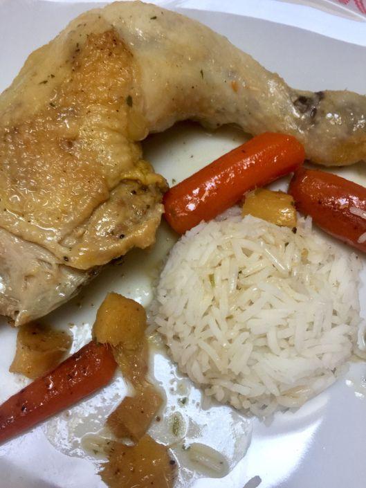 Hendlhaxerl mit Karotten, Ingwer und Knoblauch \u2013 leichte Küche Food