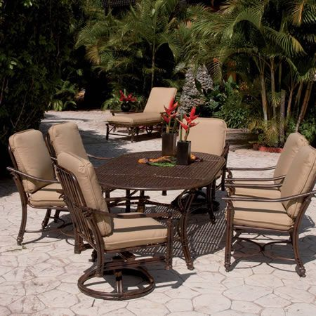 Castelle Coco Isle Cushion Dining Collection Luxury Patio Furnishings With  A Resort Style. Comfortable Cushioned