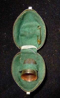 Antique Walnut Thimble/Needle Case
