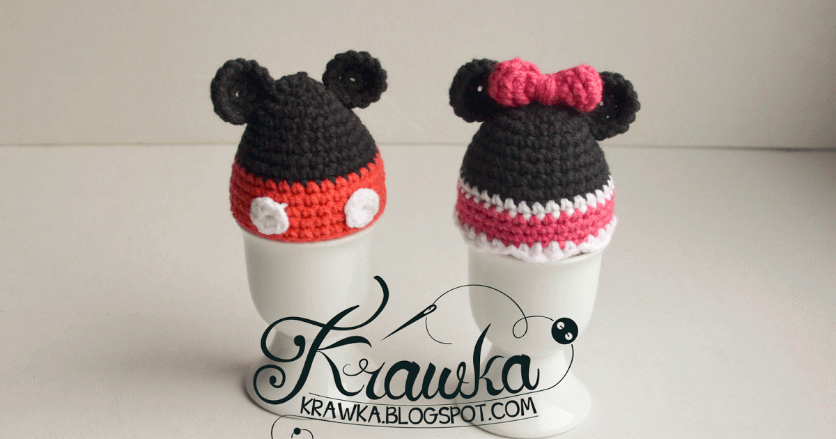 Krawka: Crochet Easter egg warmer/cozy inspired by Mickey Mouse and ...